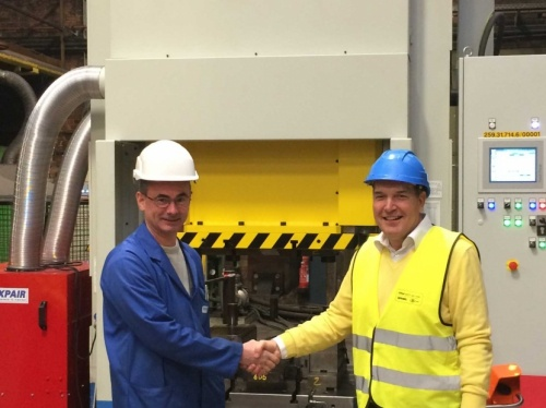 New forging press produces railroad switches for Infrabel