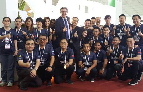 Unser Vertreter Mr Alby Chong auf der Metaltech Malaysia