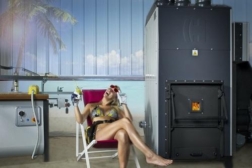 Générateur d'air chaud au bois