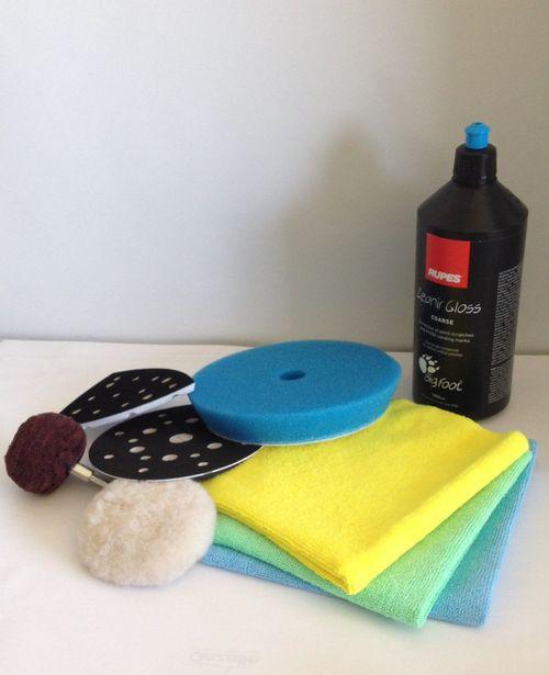 Produits, mousses, chiffons et accessoires
