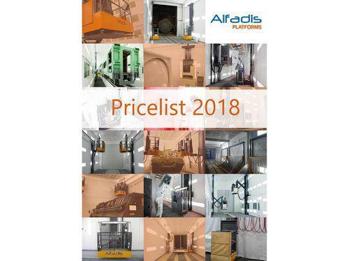 New pricelist of 2018!