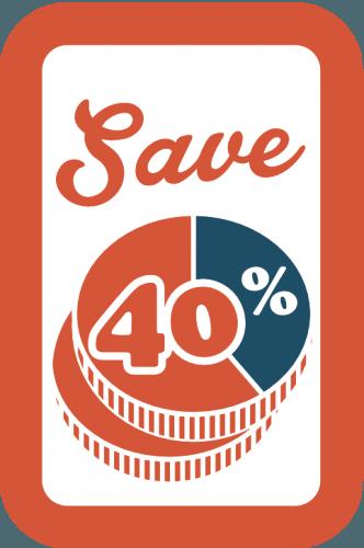 Bespaar tot 40%
